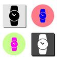 hand watch clock flat icon vector image