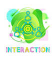 interaction symbol human and arrows co-working vector image vector image