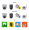 isolated object of office and house icon set of vector image