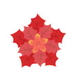 leaves different size and red shades vector image vector image