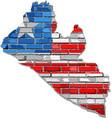 liberia map on a brick wall - vector image vector image
