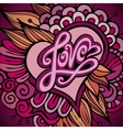 Love hand lettering - handmade calligraphy vector image vector image