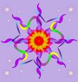 mandala-purple star vector image vector image