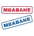 Mbabane Rubber Stamps vector image vector image