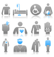 medical icons8 vector image