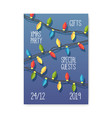Merry christmas 2019 party poster invitation