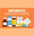 modern antibiotic concept banner flat style