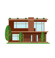 modern house family home vector image vector image