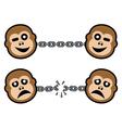 monkey symbols vector image vector image