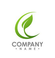 nature logo for health company icon concept vector image vector image