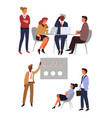 office workers business meeting and conference vector image vector image