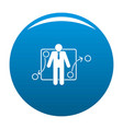 one businessman icon blue vector image vector image