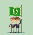 people hold fluttering dollar vector image vector image