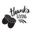 print with words thanks giving in black vector image vector image