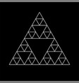 sacred geometry triangle based symbol and elements vector image vector image