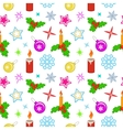 Seamless christmas pattern Colored holly berry vector image vector image