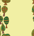 Seamless hand-drawn border pattern with doodle vector image vector image