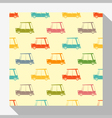 Seamless pattern collection with car 1 vector image
