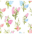 seamless pattern siringa and galantus flowers vector image vector image