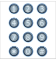 set of buttons with number vector image vector image