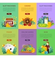 Set of Gambling Banners In Flat Design vector image vector image