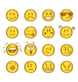 Set of hand drawn smiles on white background vector image