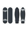 set skateboard and longboard icons in flat vector image vector image