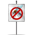 Sign for mosquito control vector image vector image