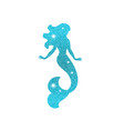 silhouette of mermaid with dust glitters vector image vector image