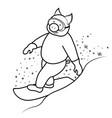 snowboarder pig symbol 2019 vector image