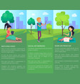 spending time at park in free wi-fi zone at city vector image vector image