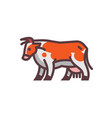 stylized drawing of cow vector image vector image