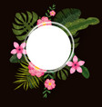 summer trendy template exotic plants and hibiscus vector image vector image