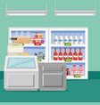 supermarket groceries in shelving vector image