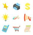 tax document icons set cartoon style vector image