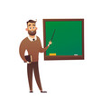 teacher professor standing in front of blackboard vector image