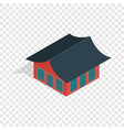 traditional korean house isometric icon vector image vector image