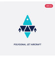 two color polygonal jet aircraft icon from vector image vector image