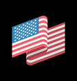 usa flag isolated america ribbon banner state vector image vector image