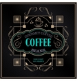 vintage victorian western frame coffee label vector image vector image