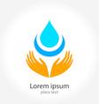 water hand logo vector image vector image