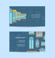 window flat icons business card vector image vector image