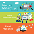 Internet banners vector image