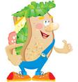 Sandwich cartoon vector image