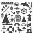 sea travel icon set vector image