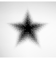 Halftone Star vector image