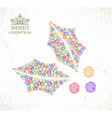 Merry Christmas watercolor holly berry card vector image