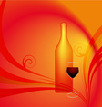 A glass of red wine vector image
