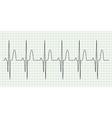 Electrocard diagram on grid paper vector image