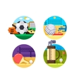 Collection of icons sports ball games vector image